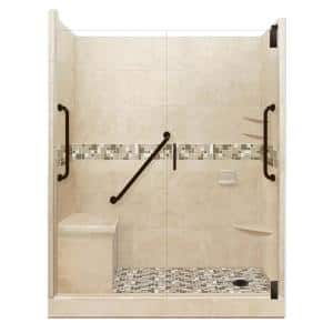 American Bath Factory Tuscany Freedom Grand Hinged 32 In X 60 In X 80 In Right Drain Alcove Shower Kit In Brown Sugar And Old Bronze Afgh 6032bt Rd Ob The Home Depot