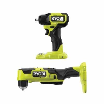 ONE+ HP 18V Brushless Cordless Compact 3/8 in. Right Angle Drill and 3/8 in. Impact Wrench (Tools Only)