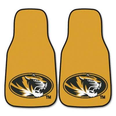 University of Missouri 18 in. x 27 in. 2-Piece Carpeted Car Mat Set