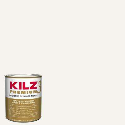 PREMIUM 1 Qt. White Interior/Exterior Primer, Heavy-Duty High Hide Sealer, and Stain Blocker