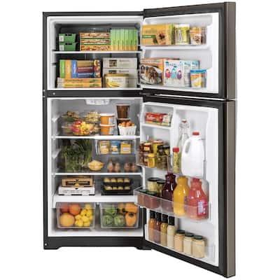 19.2 cu. ft. Top Freezer Refrigerator in Slate, Fingerprint Resistant