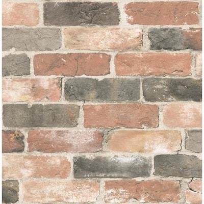 Rustin Red Reclaimed Bricks Red Wallpaper Sample