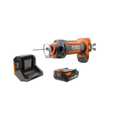 18V Drywall Cut-Out Tool Kit with 2.0 Ah Battery and Charger