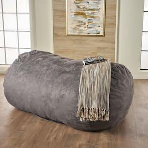 Barracuda Charcoal Suede Bean Bag Cover