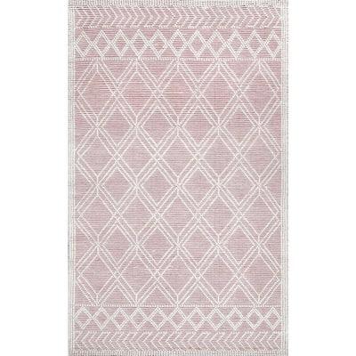 Natti Modern Trellis Pink 8 ft. x 10 ft. Area Rug