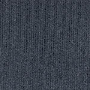 Elevations - Color Ocean Blue 6 ft. Indoor/Outdoor Ribbed Texture Carpet
