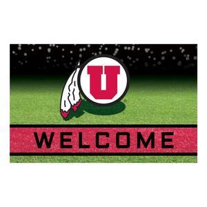 University of Utah 18 in. x 30 in. Rubber Door Mat