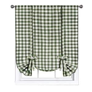 Buffalo Check 42 in. W x 63 in. L Polyester/Cotton Light Filtering Window Panel in Sage