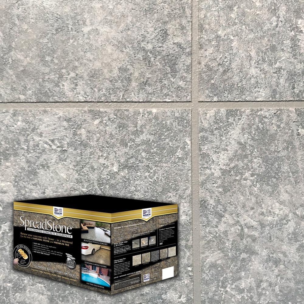 SpreadStone 10 Gal. Summit Grey Satin Interior/Exterior 400 sq.ft. Decorative Concrete Resurfacing Kit
