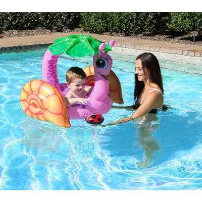 Snail Baby Swimming Pool Float Rider