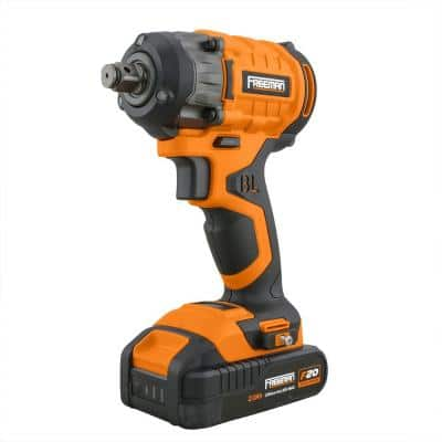 20-Volt Brushless and Cordless 1/2 in. Impact Wrench with Case