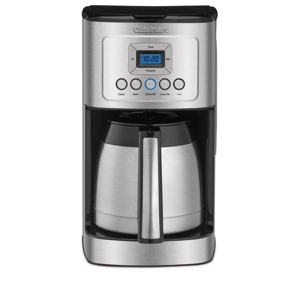 Cuisinart 12 Cup Programmable Silver Coffee Maker With Built In Timer Dcc 3400 The Home Depot