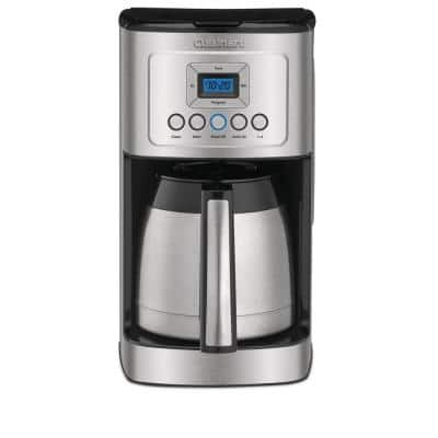 12-Cup Programmable Silver Coffee Maker with Built-In Timer