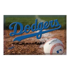 MLB - Los Angeles Dodgers 19 in. x 30 in. Indoor/Outdoor Scraper Mat Door Mat