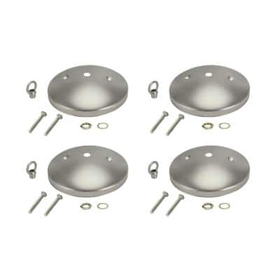 5 in. Brushed Pewter Modern Canopy Kit (4-Pack)