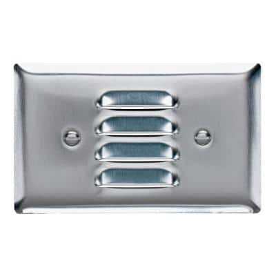 Pass & Seymour 302/304 S/S 1 Gang Horizontal Louvered Wall Plate, Stainless Steel (1-Pack)