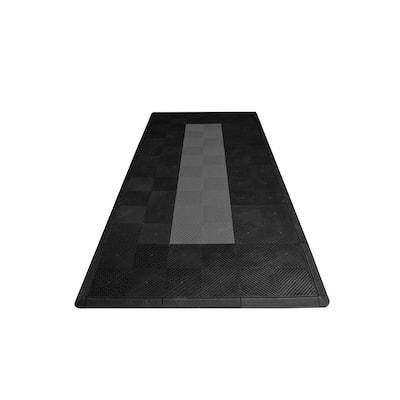 4.3 ft. x 9.6 ft. Grey with Black Border Moto Pad Kit - ECO