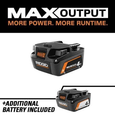 18V Lithium-Ion Max Output 4.0 Ah Battery with 18V Lithium-Ion 4.0 Ah Battery