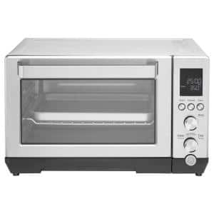 1500W 6-Slice Stainless Steel Convection Toaster Oven with Quartz Heating Element and 7 Cook Modes