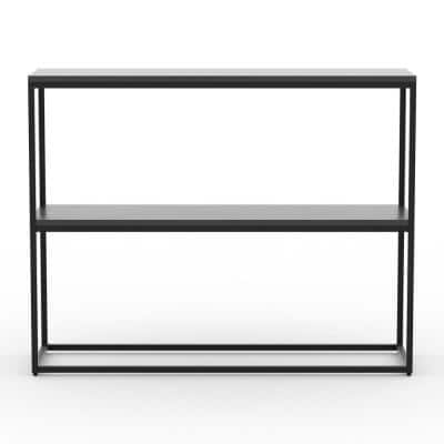 Emery 31 in. Black Composite Console Table with Shelf