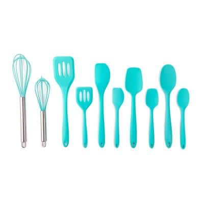 10-Piece Key West Large and Mini Essential Silicone Utensil Set
