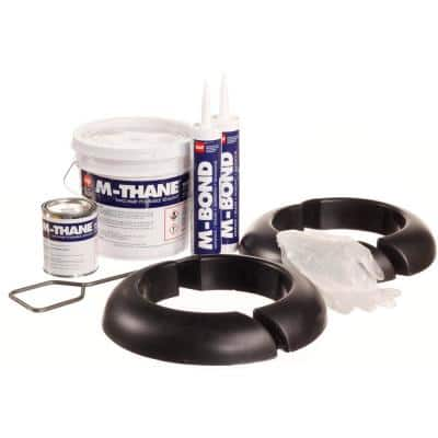 M-Curb Pitch Pocket 7.5 in. Dia Round Black Asphaltic Roofing Pipe Flashing System Kit (2 Assemblies)