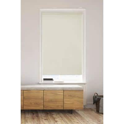 Ivory Cordless Light Filtering Non-Woven Honeycomb Cellular Shades Posh System (2-Tone Color) - 36 in. x 72 in.