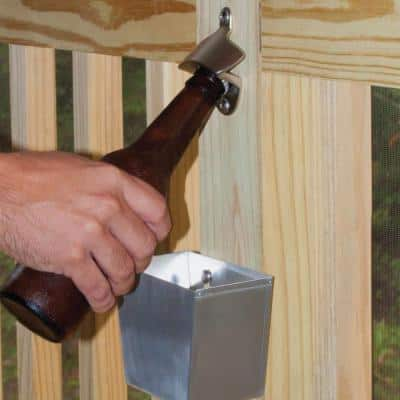 Satin Nickel Bottle Opener and Cap Catcher