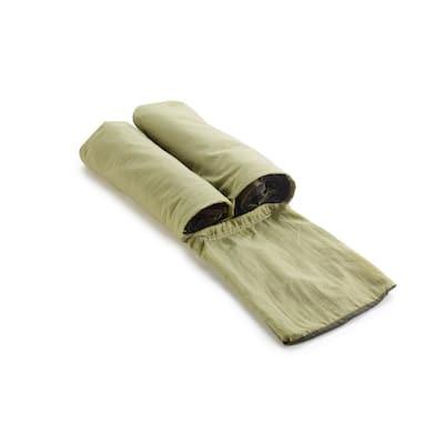 6-1/2 ft. Nylon Bag Hammock in Olive/Khaki with Mosquito Netting