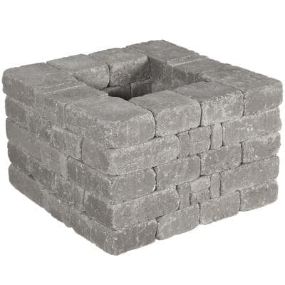 RumbleStone 28 in x 17.5 in. x 28 in. Square Concrete Planter Kit in Greystone