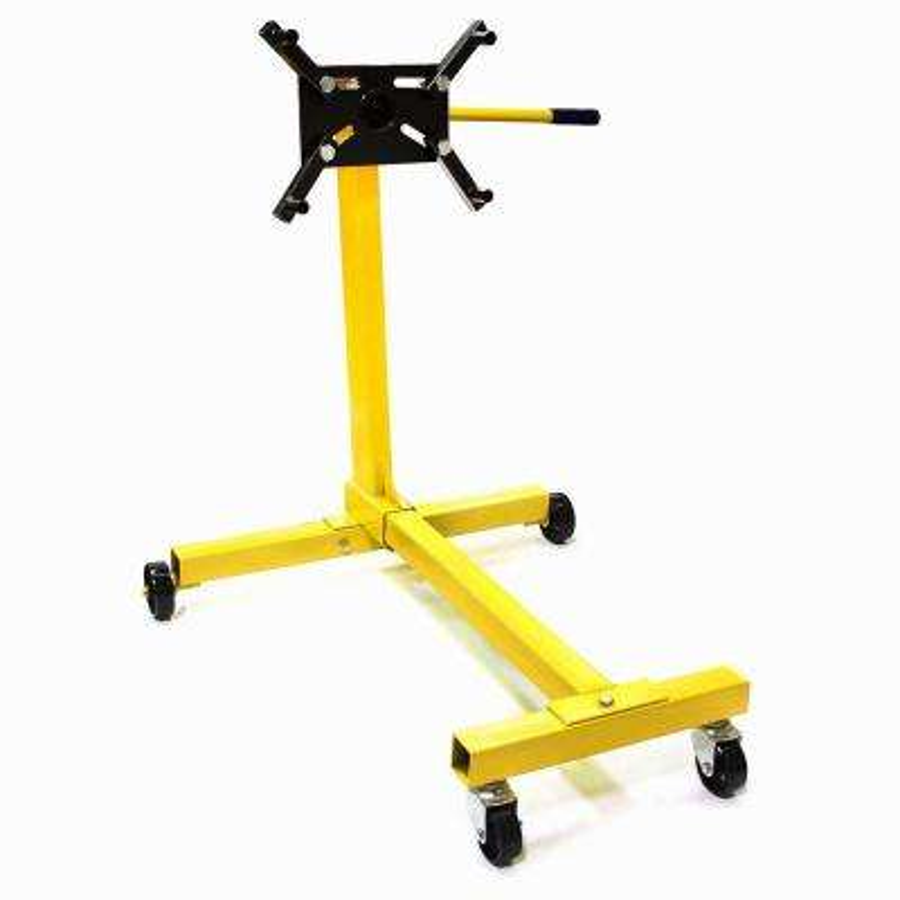 1000 lbs. Shop Engine Stand Hoist Pro Automotive Lift Rotating 4 Leg Type Motor