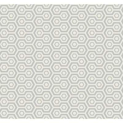 Pine Island Geometric Paper Strippable Roll (Covers 60.75 sq. ft.)