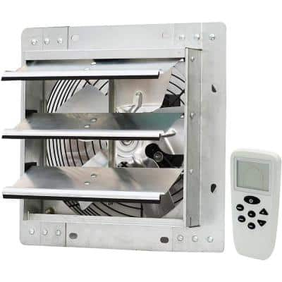 10 Inch Wall Mounted Smart Remote Shutter Exhaust Fan with Thermostat, Humidistat, Variable Speed, Timer