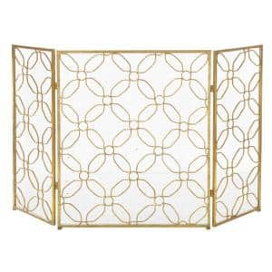 Home and Hearth 3-Panel Iron Fire Screen