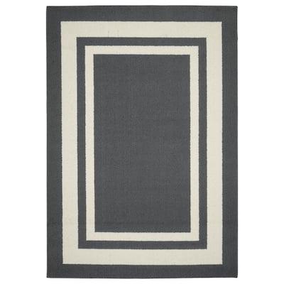 Borderline Cinder Gray/Ivory 5 ft. x 7 ft. Indoor/Outdoor Area Rug