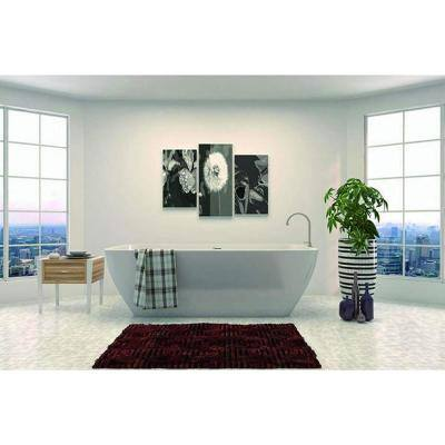 Montpellier 67 in. Acrylic Flatbottom Freestanding Bathtub in White