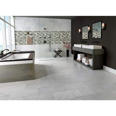Urban Tapestry Interlocking 11.81 in. x 11.81 in. x 6 mm Matte Recycled Glass Mesh-Mounted Mosaic Tile (0.98 sq. ft.)