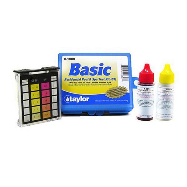 Taylor Technologies Taylor Basic Residential Ot Dpd Swimming Pool And Spa Test Kit 6 Pack 6 X K1000 The Home Depot
