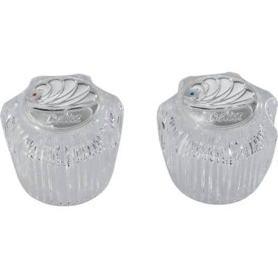 Small Hot and Cold Acrylic Knob Handles for Faucets