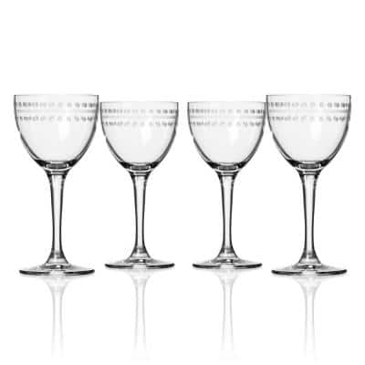 Mid-Century Modern 5.5 fl. oz. Nick and Nora Cocktail Glasses (Set of 4)