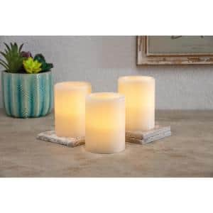 3-Piece Sets 3 in. x 4 in. LED Pillar (Set of 2)
