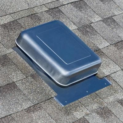 50 sq. in. Mill NFA Aluminum Square-Top Round Throat Roof Louver Static Vent (Carton of 12)
