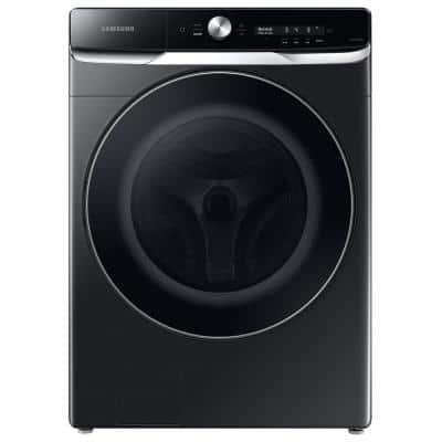 27 in. Wide 5.0 cu. ft. Extra-Large Brushed Black Front Load Washing Machine with Smart Dial and OptiWash