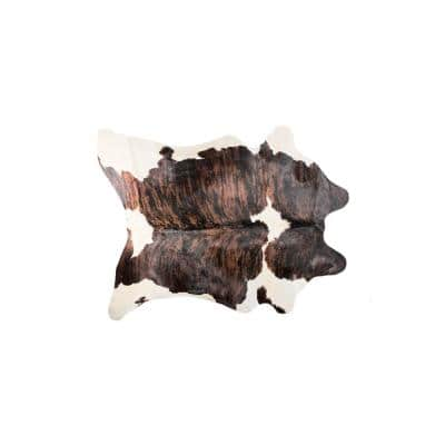 Kobe Cowhide Tournesol Brown & White 5 ft. x 7 ft. Animal Print Area Rug