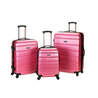 Melbourne 3-Piece Hardside Spinner Luggage Set, Pink