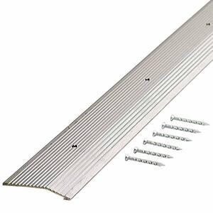 Silver Fluted 72 in. x 2 in. Carpet Trim