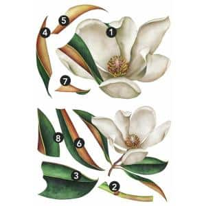 Vintage Magnolia Peel and Stick Giant Wall Decals