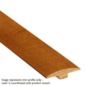 Gunstock High Gloss Red Oak 1/4 in. Thick x 2 in. Wide x 78 in. Length T-Molding