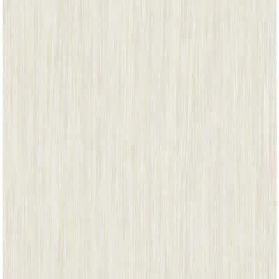 Vertical Stria Beige and Off-White Paper Strippable Wallpaper Roll (Cover 56.05 sq. ft.)