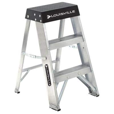 2 ft. Aluminum Step Ladder with 300 lbs. Load Capacity Type IA Duty Rating